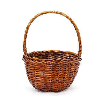 Wicker round shopper made by willow
