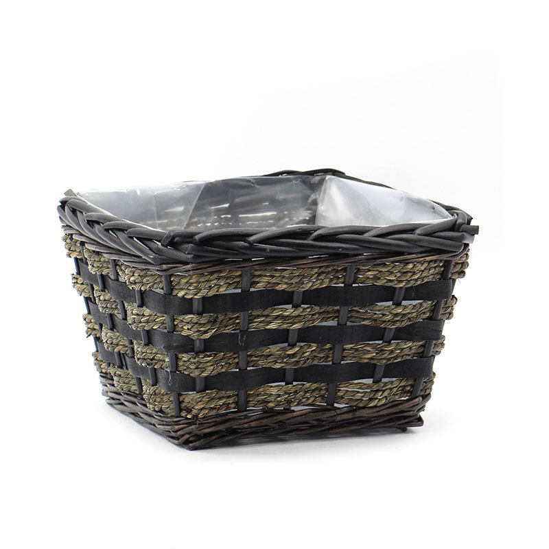 Wholesale Natural Square Wicker Planter