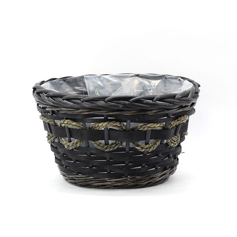 best black wicker planter manufacturers for indoor-1