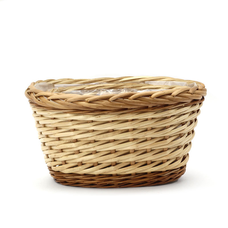 Custom Charming Oval Wicker Plant Pot