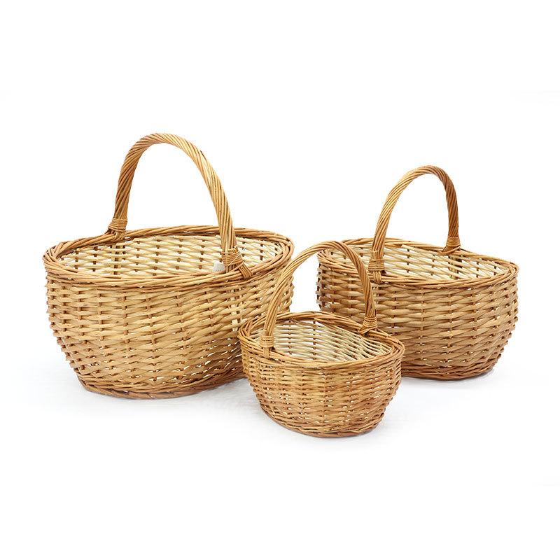 Prime Oval Wicker Shopping Basket