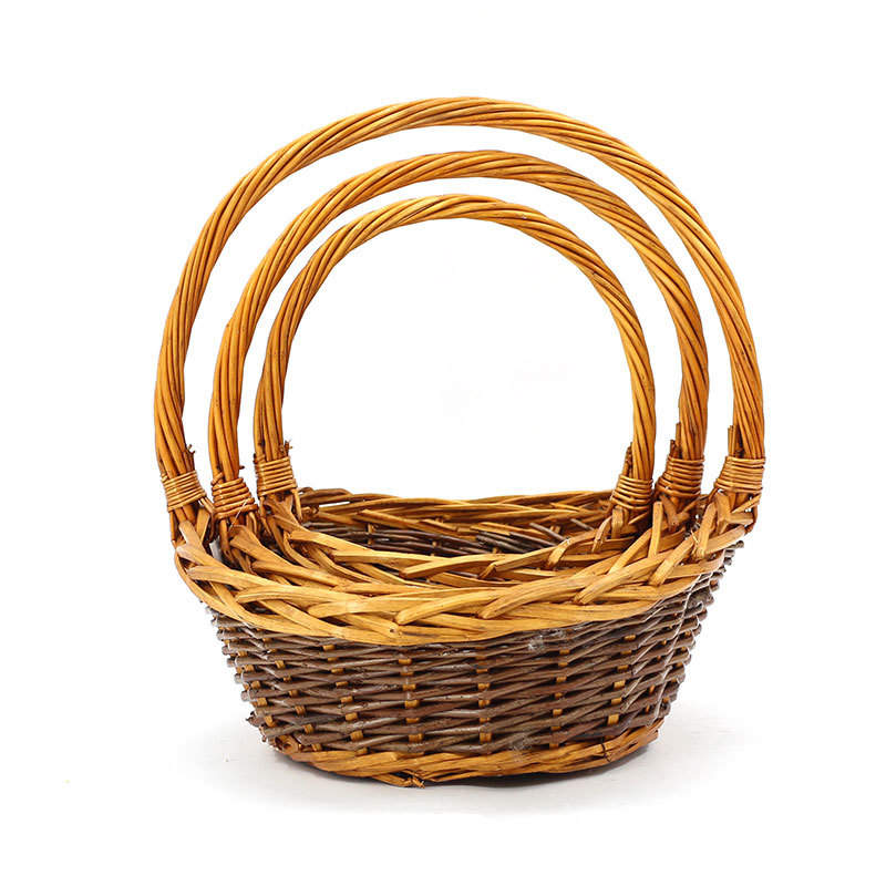 Honey&Brown Wicker Shopping Basket
