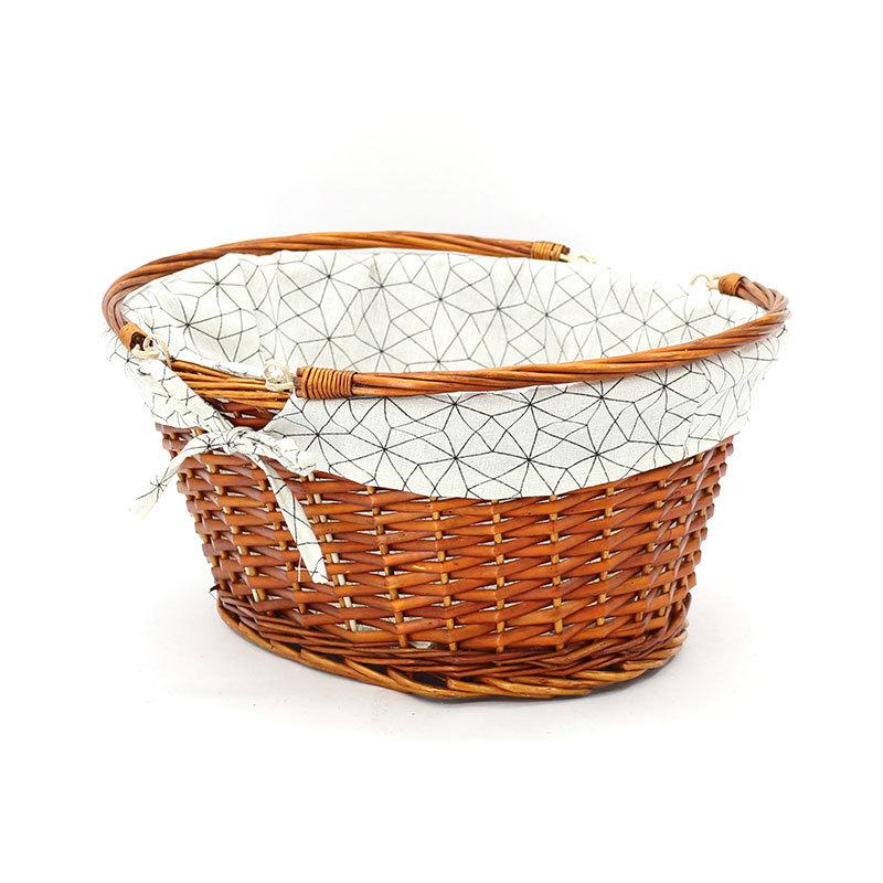 Fashion Swing Handle Wicker Shopping Basket