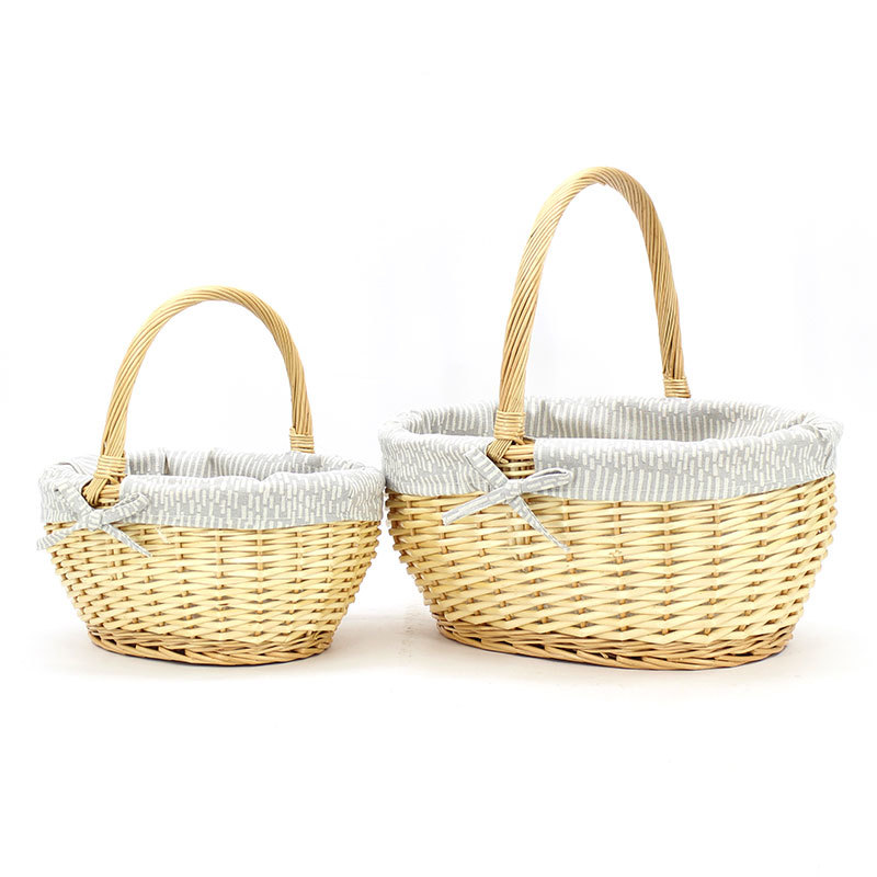 White Wicker Shopping Basket