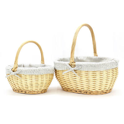 Honey Pot Wicker Shopping Basket