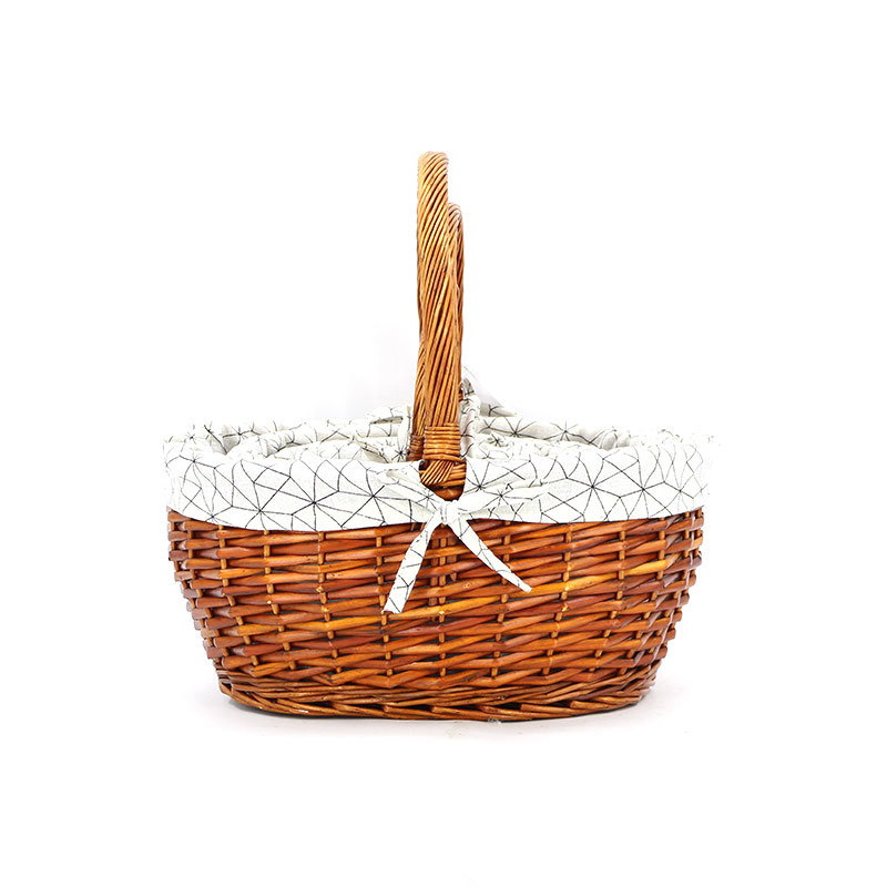 Elegant Oval Shape  Wicker Shopping Basket