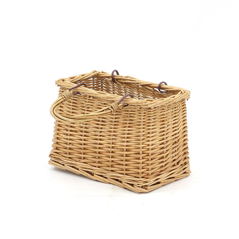 Square Swing Handle Wicker Shopping Basket