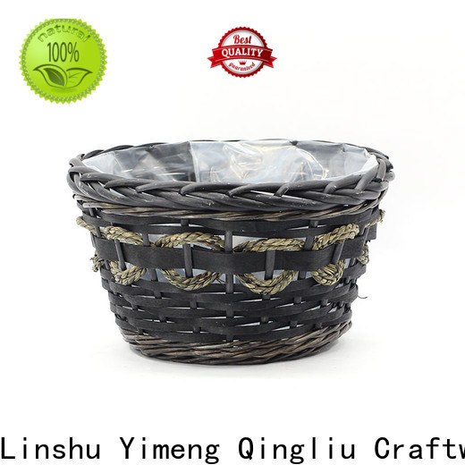 Yimeng Qingliu latest large wicker plant pot factory for outdoor