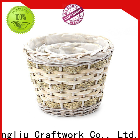 Yimeng Qingliu custom wicker trough planter for business for garden
