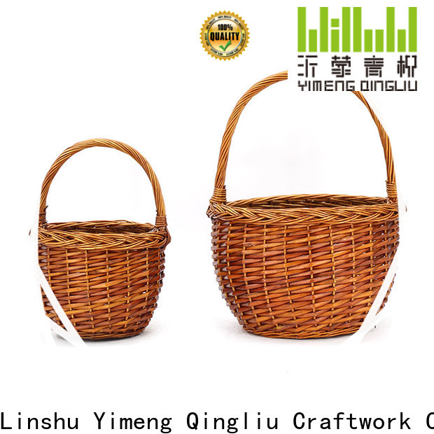 Yimeng Qingliu custom round willow basket suppliers for outside