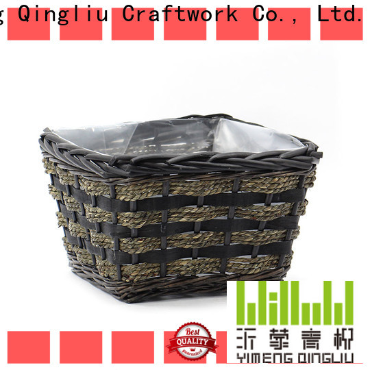 Yimeng Qingliu wicker plant holders supply for patio