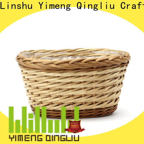 Yimeng Qingliu wholesale wicker hanging planter for business for garden