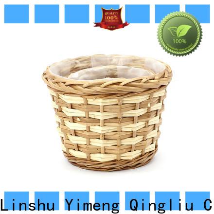 Yimeng Qingliu hanging wicker plant baskets company for outdoor