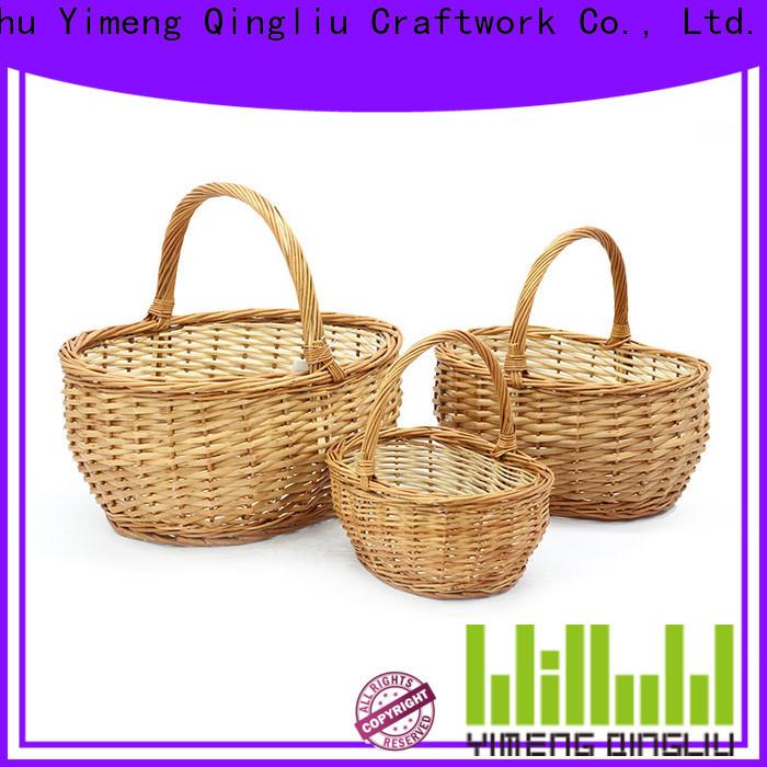Yimeng Qingliu wood flower basket manufacturers for outdoor