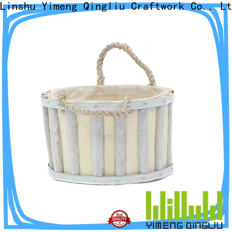 Yimeng Qingliu round wooden flower pots for business for patio