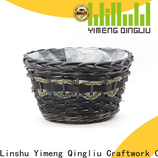 Yimeng Qingliu top grey wicker plant pot supply for outdoor