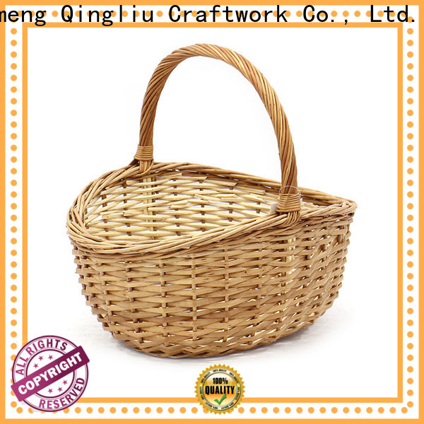 wholesale willow wicker baskets suppliers for outside