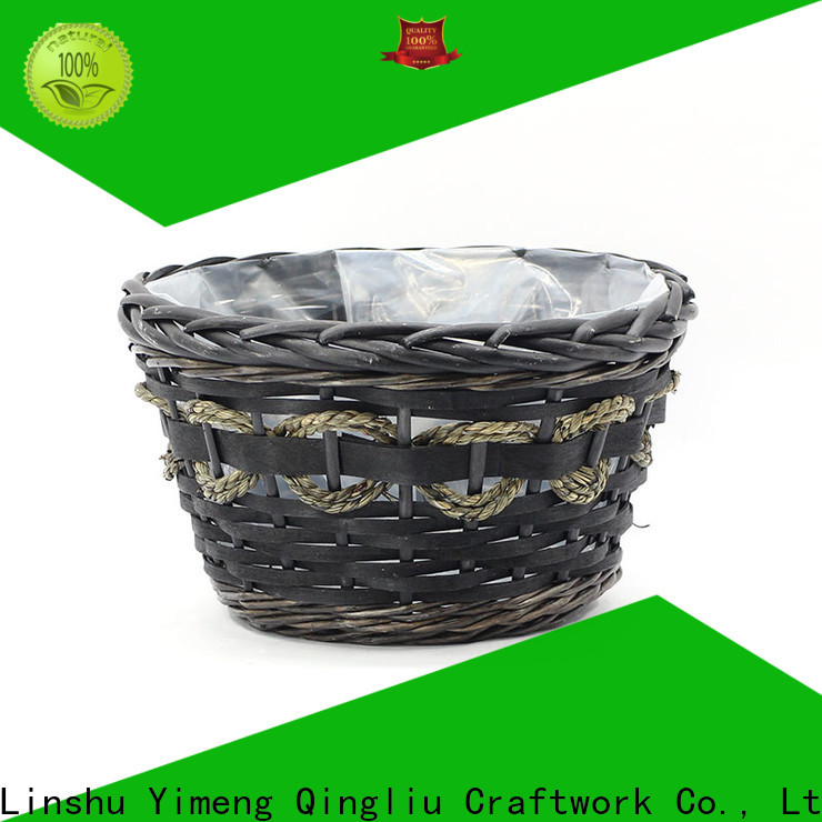 Yimeng Qingliu best wicker basket with plant company for indoor