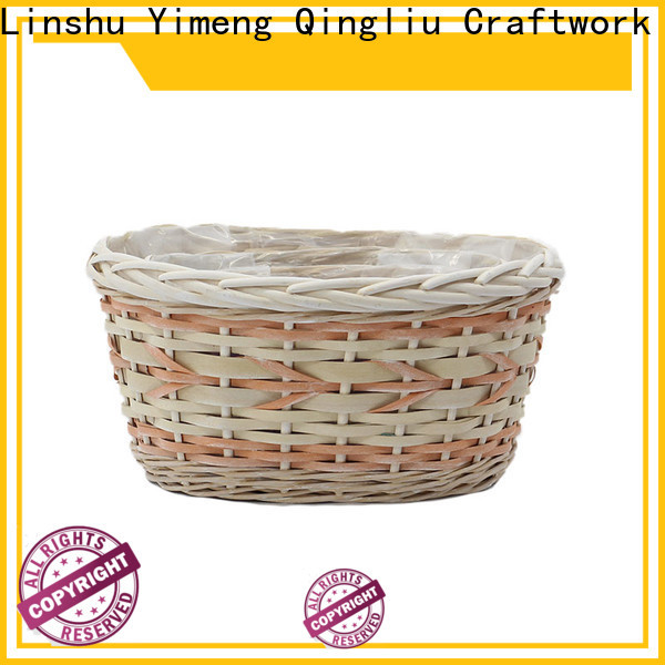 Yimeng Qingliu wholesale wicker hanging planter for business for outdoor