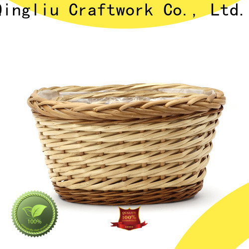 wholesale wicker hanging baskets for plants factory for outdoor
