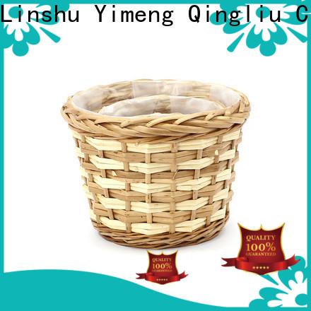 Yimeng Qingliu best wicker rattan planter manufacturers for garden