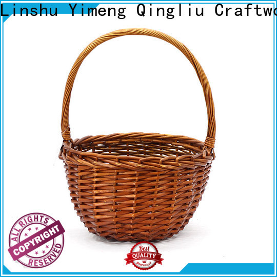 Yimeng Qingliu round wicker baskets with handles manufacturers for woman
