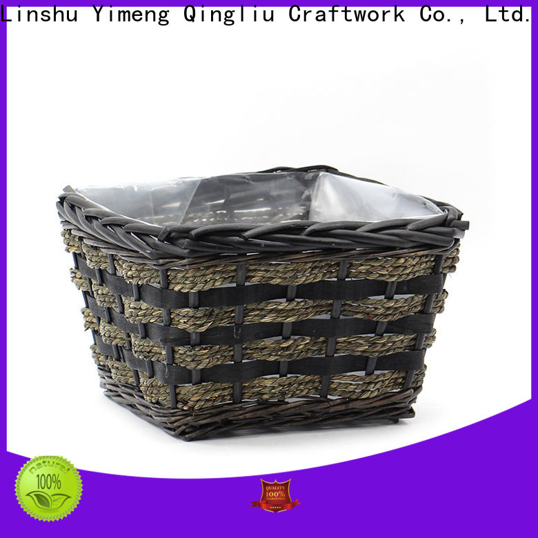 Yimeng Qingliu round wicker planter supply for indoor