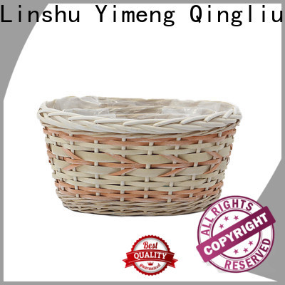 Yimeng Qingliu woven plant basket for business for indoor