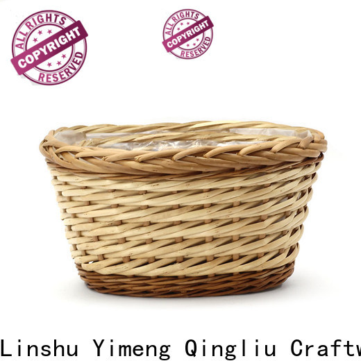Yimeng Qingliu large outdoor wicker planters company for outdoor
