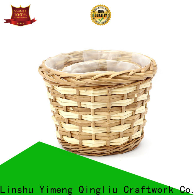 wholesale wicker outdoor plant pots for business for garden