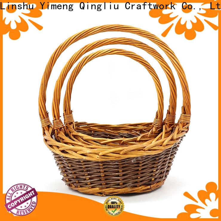 Yimeng Qingliu wholesale wood flower basket manufacturers for present