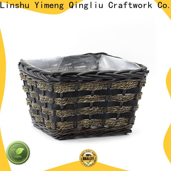 Yimeng Qingliu small wicker plant pot manufacturers for patio