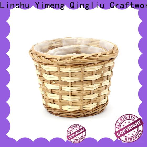 Yimeng Qingliu rattan wicker planter manufacturers for indoor