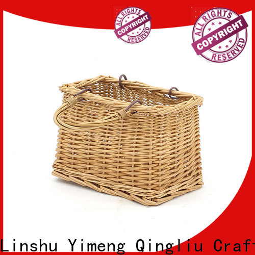 top willow wicker baskets supply for outside