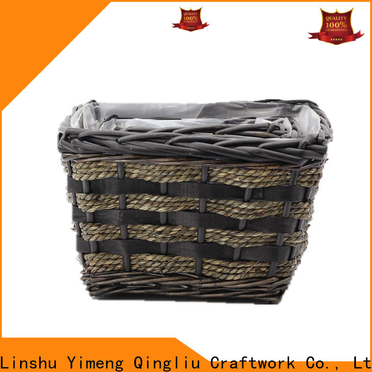New wicker trough planter suppliers for outdoor
