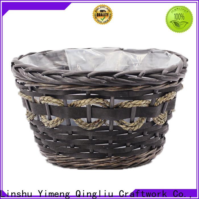 Yimeng Qingliu high-quality rattan wicker planter for business for garden