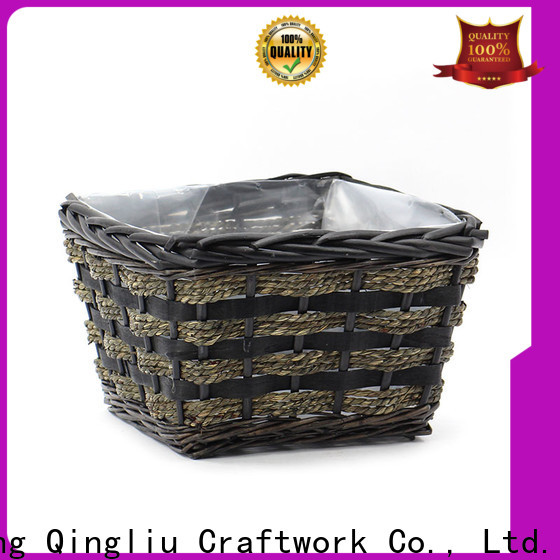 Yimeng Qingliu large wicker baskets for plants supply for patio