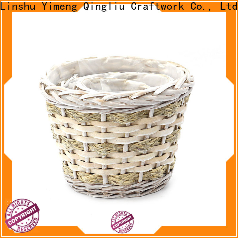 Yimeng Qingliu wicker plant basket suppliers for indoor