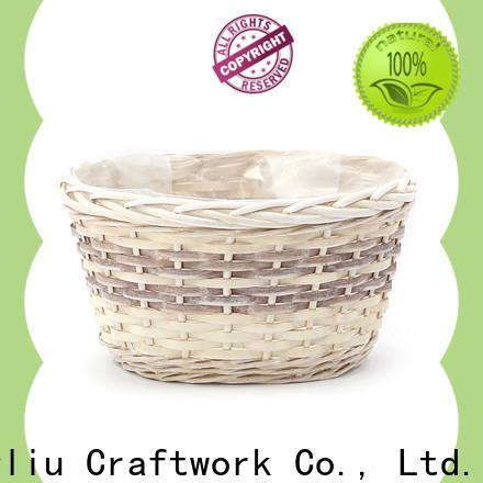 Yimeng Qingliu rattan wicker planter factory for outdoor