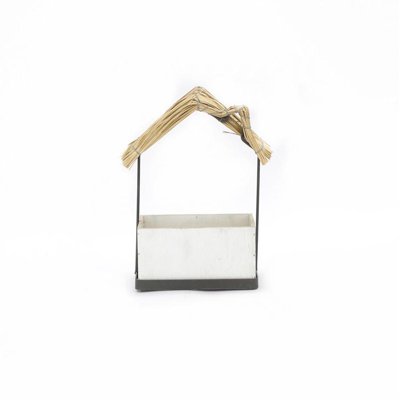 White Wooden Plant Box