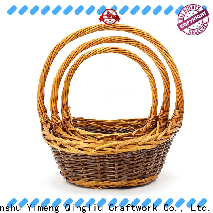 Yimeng Qingliu willow storage basket suppliers for boy