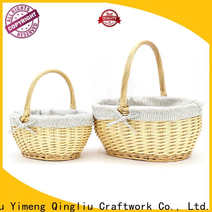 wholesale wicker market basket company for woman