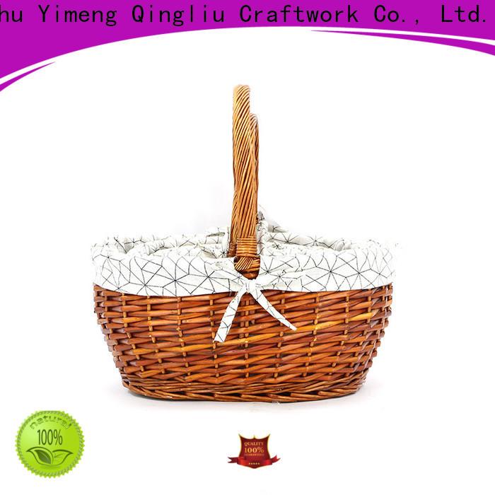 Yimeng Qingliu wicker market basket supply for outside