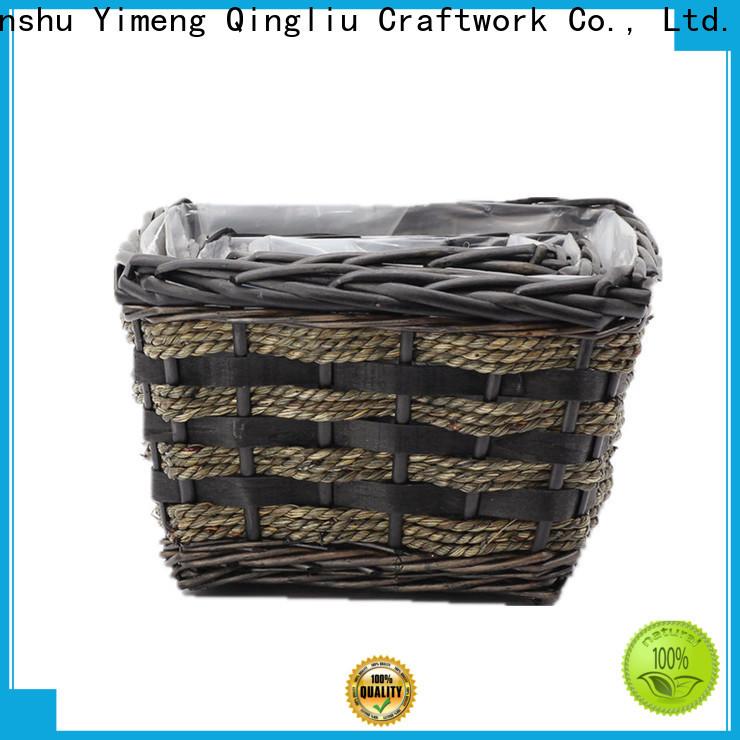 Yimeng Qingliu high-quality wicker planter basket outdoor suppliers for garden