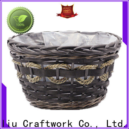 latest wicker wall baskets for plants for business for patio