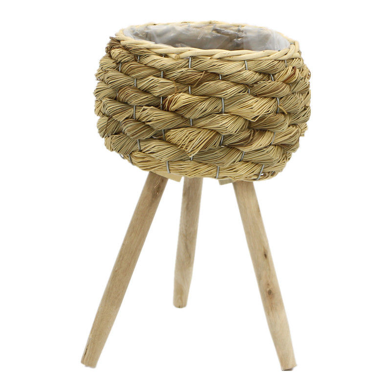 Natural Light Brown Seagrass Plant Pots