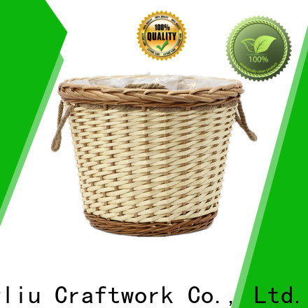custom wicker hanging baskets for plants for business for indoor