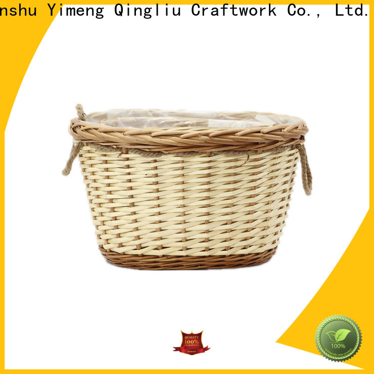 Yimeng Qingliu wicker wall baskets for plants factory for indoor