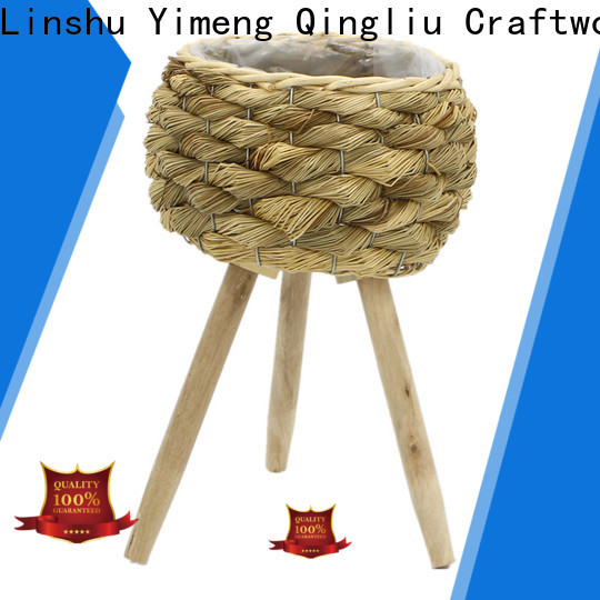 Yimeng Qingliu high-quality large seagrass plant basket for sale for outdoor