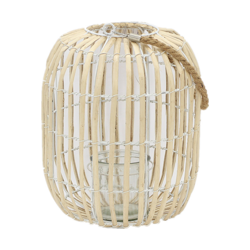 Light Color Willow Candle Lantern